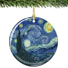 Starry Night Porcelain Ornaments  Exclusive! The charm and beauty ofVan Gogh's artworkis captured in this new and original ornament.The Starry Nighthas never looked so glorious.  We are proud
