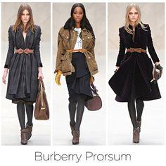 Burberry Prosum style.com , me encantan los zapatos de esta colección ......