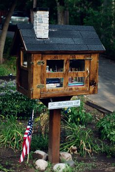 Secret Library. This is such a neat idea! Part of the Little Free Library program. LOVE