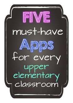At Whit's End: Back 2 School & Technology Buzz 5 must have apps for upper elementary / primary  AR Augmented reality