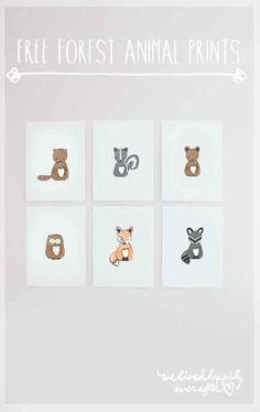 These foxy prints are perfect for future animal lovers: