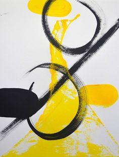 Minimalist art modern art abstract painting canvas art yellow