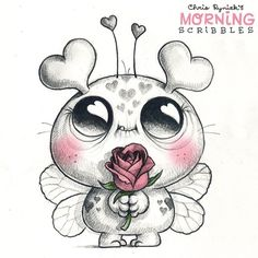 2,884 отметок «Нравится», 28 комментариев — Chris Ryniak (@chrisryniak) в Instagram: «Happy Valentine's Day to all of you Lovebugs out there!  #morningscribbles #valentinesday»