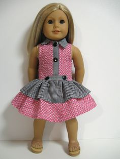 American Girl Doll ClothesTouch of Gold by 123MULBERRYSTREET, $20.00