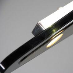 Lámpara colgante ovalada CREDO 120 LED - Lámpara con un diseño muy elegante en acero pulido y cristal ovalado en color negro. Incluye 12 LEDs de 3W de bajo consumo. #black
