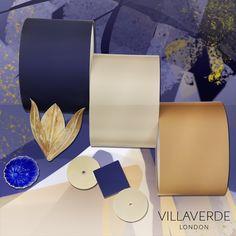 VILLAVERDE #Moodboards - Blue & Champagne   www.villaverde.london