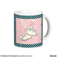 Pink Baby Girl Sneakers Coffee Mug