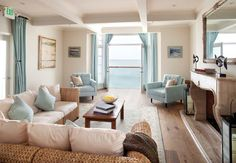 Beach House Living Room - View
