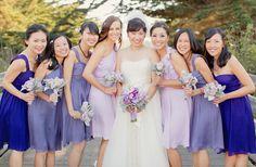 bridesmaids gradient. love this!