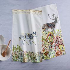 Fair Isle Friends Tea Towels (Set of 2) | west elm
