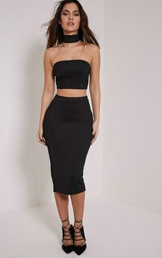 Long black tube skirt | skirts and dresses | Pinterest | Black ...