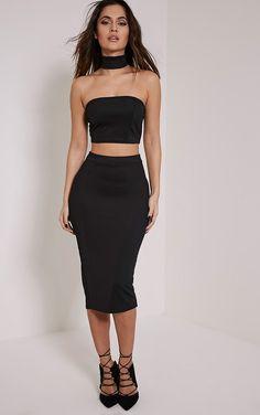 Long black tube skirt | skirts and dresses | Pinterest | Black ...