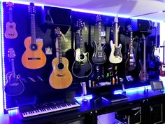 Wall Control Pegboard is not just for tool storage! Checkout this awesome guitar wall being organized with Wall Control's Black Metal Pegboard! We are seeing more and more customers accent their pegboard panels with LED lights like you can see here around the pegboard wall's perimeter. Thanks for the great customer photo Sue!