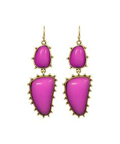 Raspberry Studded Skyler Drop Earrings by Emily Maynard for Towne & Reese #zulily #zulilyfinds