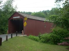 Photo of West Cornwall Covered Bridge;  Then eat at the Loose Moose Cafe.