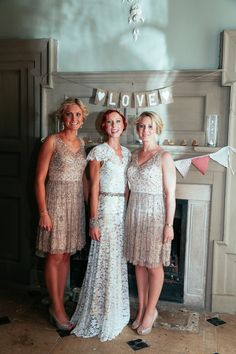 Fall Wedding Ideas - Outdoor Autumn Norfolk Wedding Sequin Bridesmaid Dresses http://myfabulouslife.co.uk/