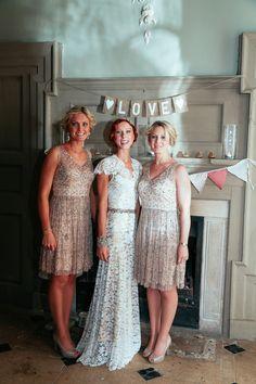 Fall Wedding Ideas - Outdoor Autumn Norfolk Wedding Sequin Bridesmaid Dresses http://myfabulouslife.co.uk/