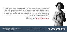 Banana Yoshimoto. Sobre los grandes hombres.