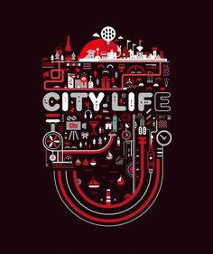 City Life Illustration by Petros Afshar