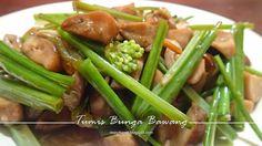tumis bunga bawang, jamur, dan saus tiram  #DapurKeNai #Food #Masakan #Makanan #IndonesianFood