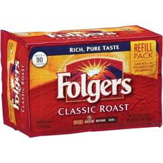 Folgers Classic Roast Ground Coffee  113 oz vacuum bag 12 bags per case -- Check out this great product. Note: It's an affiliate link to Amazon.