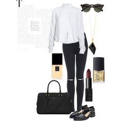 59 by styles-slutx on Polyvore featuring T By Alexander Wang, Topshop, Yves Saint Laurent, Belle Noel by Kim Kardashian, Carven, NARS Cosmetics and Chanel
