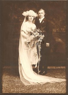 vintage wedding day, circa 1920s