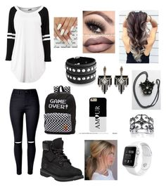 Untitled #88 by incredibly on Polyvore featuring polyvore fashion style WithChic Timberland Vans Bling Jewelry Lulu Frost Palm Beach Jewelry clothing