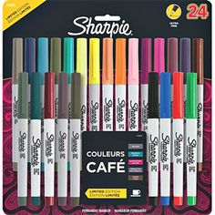 Sharpie Ultra Fine, my favorite thing to write with. Makes my handwriting AMAZING. College Supplies, Cute School Supplies, Art Supplies, Sharpie Colors, Sharpie Pens, Sharpies, Fabric Spray Paint, Freebies By Mail, Art Shed