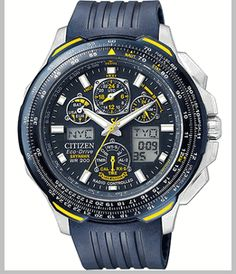 Citizen Men s Eco-Drive Skyhawk A-T Strap Blue Angels Watch 4002794481b