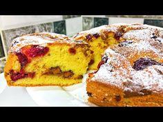 Secretul celui mai pufos și delicios chec cu vișine făcut vreodată!  Olesea Slavinski - YouTube French Toast, Muffin, Banana, Breakfast, Desserts, Mai, Food, Youtube, Sweet Recipes
