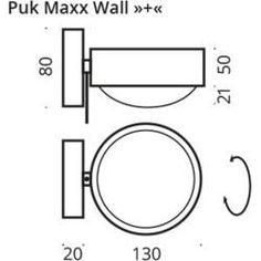 Puk Maxx Wall Plus wall lamp lens-lens glossy chrome .-Puk Maxx Wall Plus Wandleuchte Linse-Linse chrom glänzend Top LightTop Light Puk Maxx Wall Plus wall lamp lens-lens glossy chrome Top LightTop Light - Mason Jar Sconce, Alvar Aalto, Top Light, Diy Projects For Beginners, Wall Fixtures, Tree Print, Light Photography, Modern Lighting, Amazing Gardens