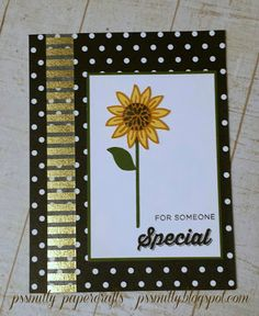 Sunflower from CTMH Flower Market Cricut cartridge