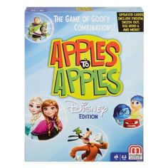 Mattel Games Disney Apples to Apples Refresh The Game of Goofy ComparisonsNow the whole family can experience the award-winning fun of Apples to Apples with a Disney Games, Disney Theme, Disney Movies, Disney Stuff, Disney Jr, Disney Toys, Walt Disney, Fun Games, Games For Kids