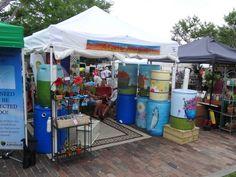 Painted Rain Barrels Rain Barrels, Spring Fever, Winter Garden, Shops, Bloom, Florida, Yard, Canning, Objects