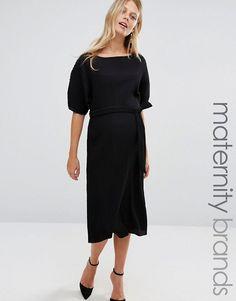 Vue Jeu Qualité Supérieure Vente En Ligne Robe longue kimono - NavyAsos Maternity Acheter Prix Pas Cher 76ZfepNJW