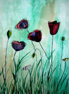 1fdf23f9c0901f59c2b00f07b35b0a9e--watercolour-flowers-abstract-watercolor.jpg (570×779)