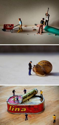 Artist Slinkachu...The miniature world