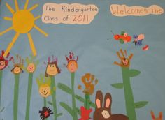 This is so much better than starting the year with empty boards - This year's class to welcome next year's class as a last week project . Kindergarten Party, Welcome To Kindergarten, Kindergarten Graduation, Back To School Night, End Of School Year, Beginning Of School, Preschool Ideas, Teaching Ideas, Goodbye Teacher