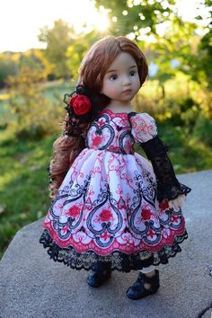 """SOLD """"Little Darling in Wonderland"""" Dress,Outfit for 13""""Effner Little Darling -Lumi #ClothingAccessories"""