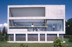Minimal concrete home overlooking Lake Geneva