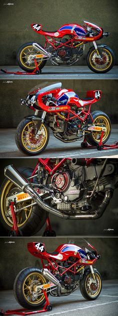 No one does that raw, retro racer look as well as Radical Ducati. The Madrid workshop channels a very appealing vintage aesthetic—and then backs it up with serious performance upgrades.  Pepo Rosell and Reyes Ramon build Ducatis that go as fast as they look. This is their latest, nicknamed 'Endurance 2013' and based on a 1997 Ducati Monster M900. It's dripping with upgrades, starting with a blueprinted engine fitted with ported heads and hooked up to a lightweight flywheel for extra snap.