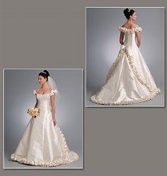 Patron de robe de mariée - Vogue 1095