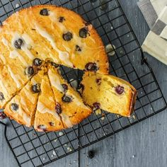 A simple Pound Cake with the combination of Parmesan Cheese, Blueberries and a drizzle of lemon Icing.