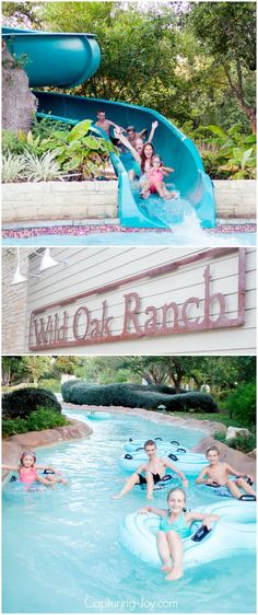 Hyatt Wild Oak Ranch, a fun family travel destination with lazy river and water slides.