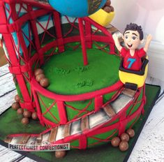 Zac - Roller coaster Birthday Cake - Cake by Niamh Geraghty, Perfectionist Confectionist