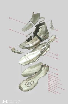 Amar Dhadwal Shares Inpiration Behind Under Armour Creations Industrial Design Portfolio, Industrial Design Sketch, Portfolio Design, Futuristic Shoes, Sneakers Sketch, Fashion Competition, Shoe Room, Shoe Sketches, Sneaker Art