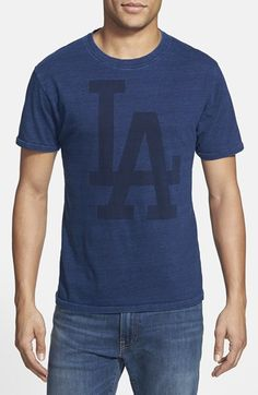 Red+Jacket+'Los+Angeles+Dodgers'+Indigo+Dyed+T-Shirt+available+at+#Nordstrom $45