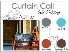 Stacey's Stamping Stage: Curtain Call Color Challenge: {ACT 57} Tempting Turquoise, Cajun Craze, Chocolate Chip, Basic Gray, White