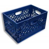 Blue rectangular milk crate #MadeinUSA #MadeinAmerica Perfect for Storage and organizing via BuyDirectUSA.com
